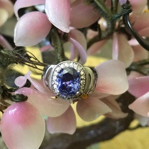 Vintage 925 tanzanite & diamond